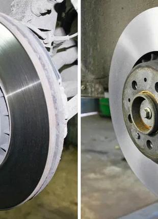 Проточка тормозных дисков, токарные и фрезерные работы