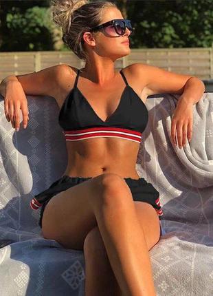 Комплект пляжный купальник + шорты