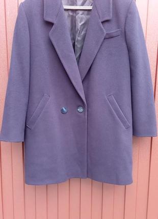 Темно синее пальто пиджак, размер 14