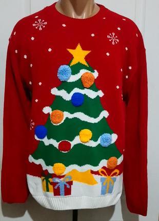 Новогодний свитер с ёлкой