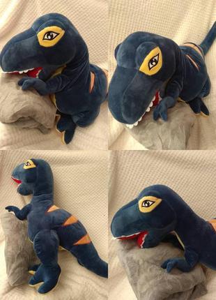 Игрушка плед подушка трансформер 3 в 1 динозавры синий