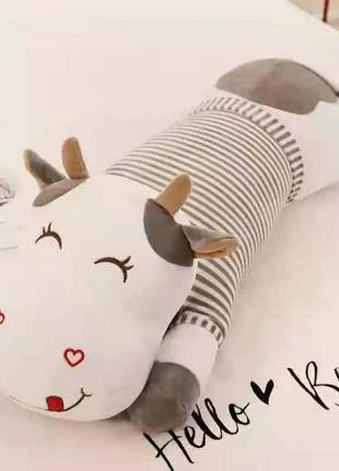Игрушка плед подушка трансформер 3 в 1 корова
