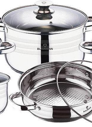 Набор посуды из нержавеющей стали Blaumann 13 предметов BL-3165