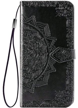 Кожаный чехол (книжка) с визитницей для Samsung Galaxy A20 / A30