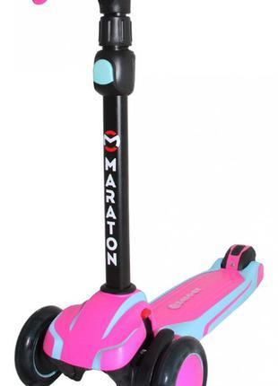 Самокат трехколесный Maraton Global G детский розовый