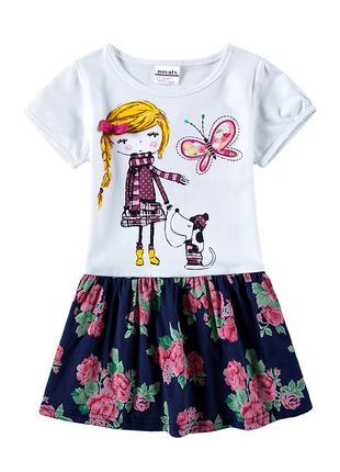 Летнее платье nova (белый верх с девочкой)