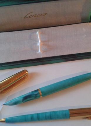 Набор: перьевая ручка, золотое перо и шариковая ручка