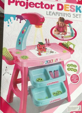 Детский проектор со столиком для рисования с подсветкой арт. 628