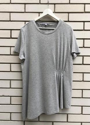Серебристая серая футболка,блуза трикотаж,вискоза с люрексом,б...