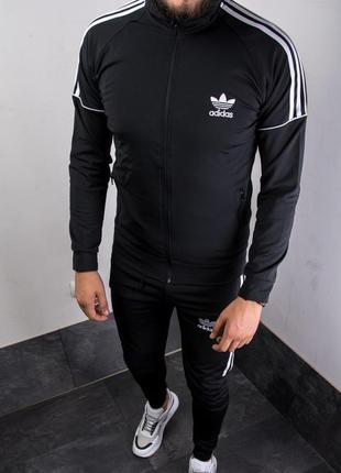 Стильный мужской спортивный костюм адидас чёрный adidas