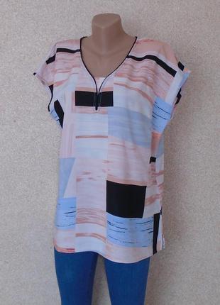 Кольрова блуза в принт\блузка\разноцветная блуза в принт