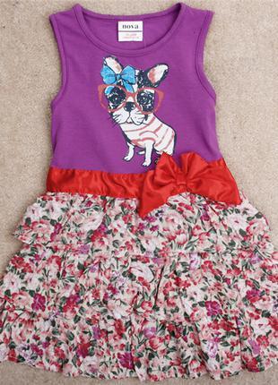 Летнее платье nova фиолетовое