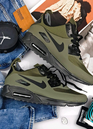 Кроссовки nike air max 90 ultra mid winter green