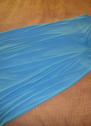 Голубое платье в пол большого размера