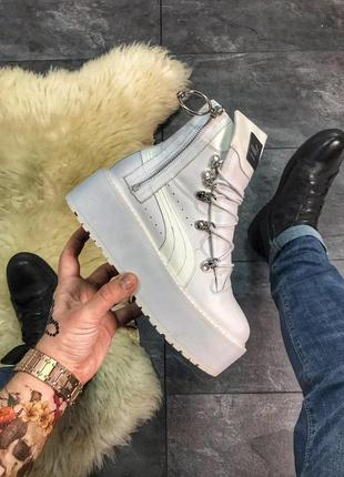 "Ботинки puma x fenty by rihanna sneaker boot ""white"""