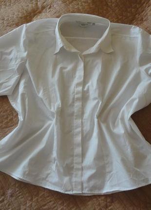 Белая рубашка большого размера