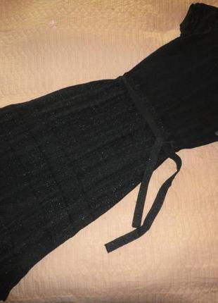 Красивое платье миди с люрексовой ниткой