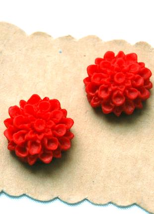 Сережки гвоздики красные цветы #розвантажуюсь