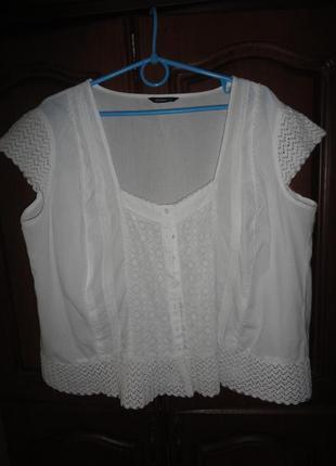 Белая натуральная блузочка