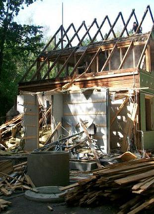 Демонтаж Строений домов стен Расчистка участка Спилить дерево