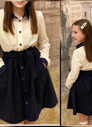 Школьная форма для девочек, школьное платье 116-142