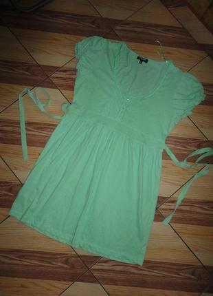 Платье - туника нежно-зеленого цвета