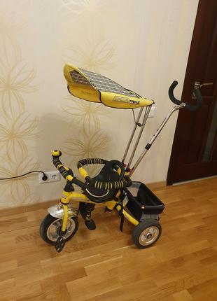 Велосипед детский с родительской ручкой Profi Trike трехколесный