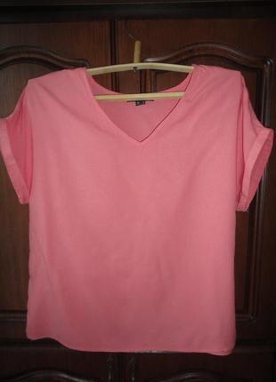 Свободная блуза кораллового цвета