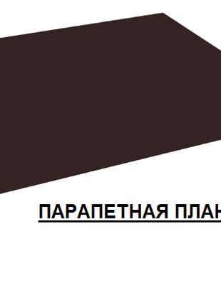 Парапетная планка, накрывка парапета, крышка парапета