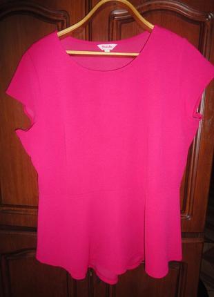 Блузка с баской  большого размера