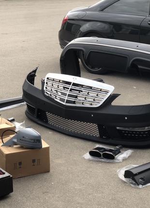 Бампер передний Mercedes Benz W221 S63 S65 Amg зеркала Обвес