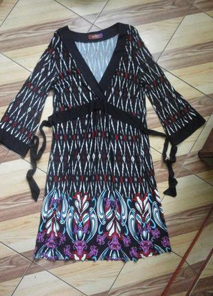 Приятное трикотажное платье с узором