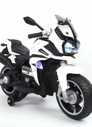 Детский мотоцикл T-7227 на аккумуляторе, белый
