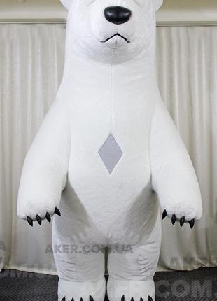Надувной костюм Белый мишка Дик