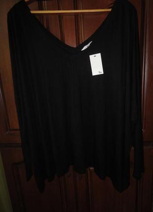 Черная блуза большого размера