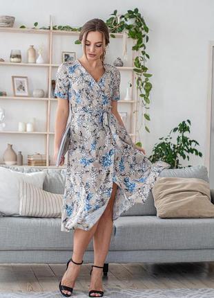Платье женское с поясом летнее легкое классический фасон