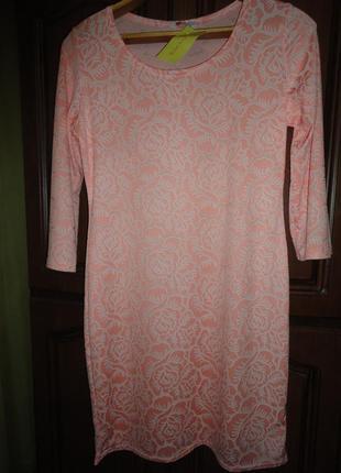 Нежное платье с жаккардовым узором