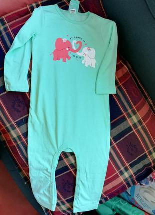 Человечек для сна для девочки, пижама, пижамка 24-36 мес lc wa...
