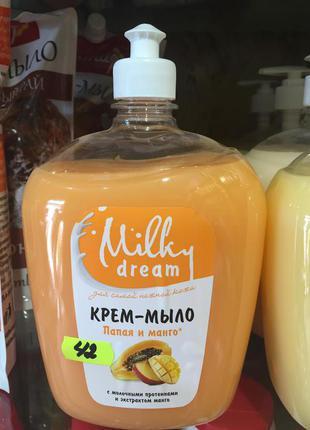 Жидкое крем-мыло Milky Dream Папайя и манго, 1 л