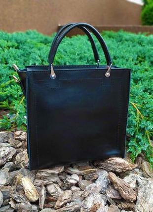 Черная женская сумка, классическая женская сумка, кожаная сумка