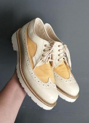 Туфли броги оксфорды стильные