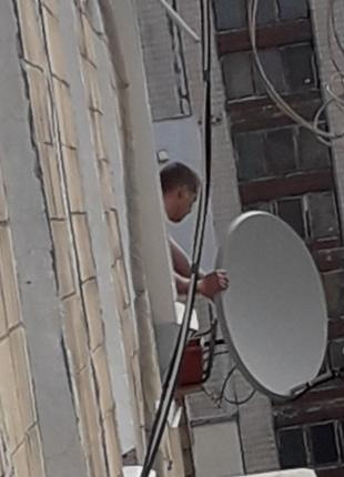 Демонтаж спутниковых антенн