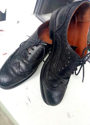 Кожаные туфли оксфорды zara