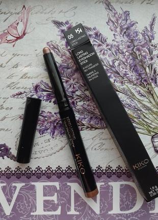 Long lasting stick eyeshadow стойкие тени-карандаш kiko milano...