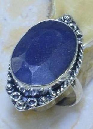 Кольцо с природным сапфиром в серебре 18,0 р