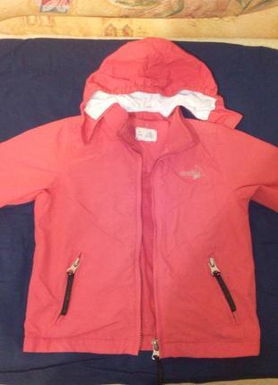 Легкая демисезонная куртка ветровка на теплую весну, 104 размер