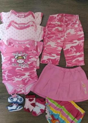 Летний набор одежды для новорожденной девочки 0-3 мес