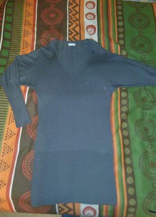 Теплое платье на зиму, размер 46-48 наш