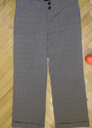 Классические женские деловые брюки в клетку h&m, р.10-12