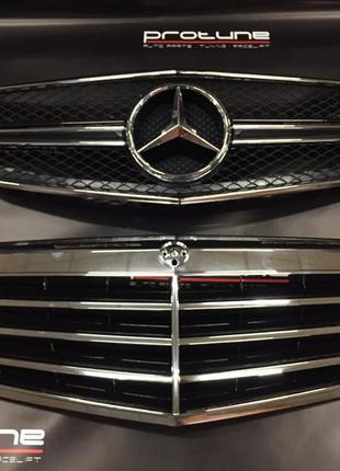 Решетка радиатора Mercedes Benz E class W 212
